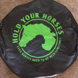 Tire cover hold your horses jeep